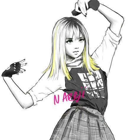 Anime style lisa blackpink cartoon. BLACKPINK fanart Lisa   Dijital boyama, Çizimler, Güzel ...