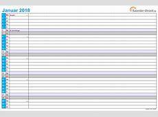 Kalender 2018 Zum Ausdrucken – Kostenlos durchgehend