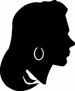 Clipart - Female Profile Silhouette