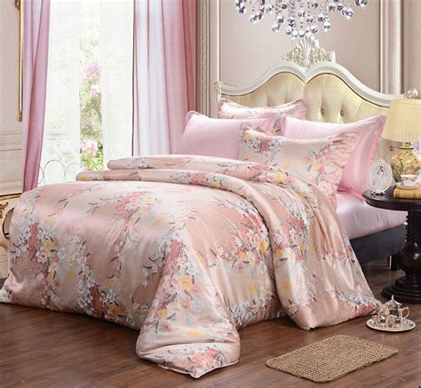 pastel duvet covers silk floral pastel pink duvet cover silky affection