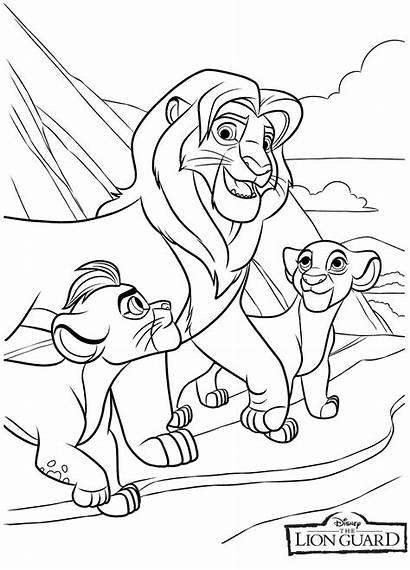 Lion Coloring Guard Pages