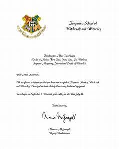 sample hogwarts acceptance letter 8 download documents With hogwarts acceptance letter download
