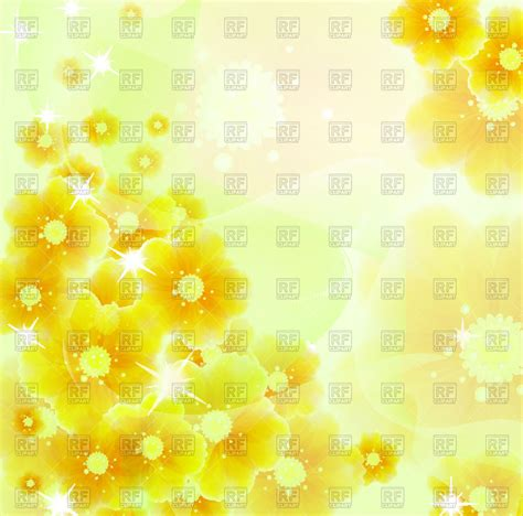 yellow flowers abstract shiny background vector image of backgrounds textures abstract