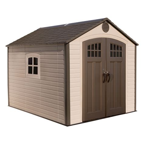 lifetime storage shed shop lifetime products gable storage shed common 8 ft x