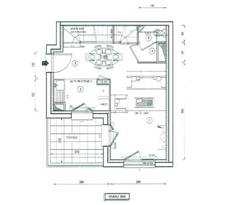 t2 2 chambres plan maison 4 chambres 130m2