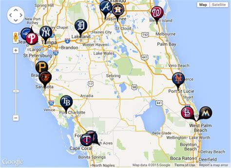 Mlb Spring Training Locations Florida Map.Florida Map Mlb Training Stadiums Spring