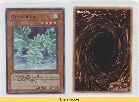 2006 Yu Gi Oh Dinosaurs Rage Sd9 En011 Oxygeddon Yugioh