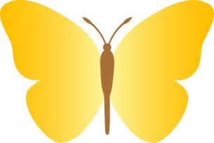 Yellow Cartoon Butterfly Clip Art