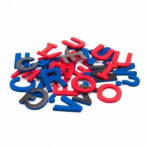 108 uppercase magnetic foam letters punctuation red With red magnetic letters