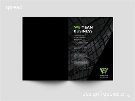 black  green company profile indesign template