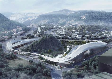 Caa's Futuristic Cloudshaped Proposal In Korea Embraces A
