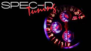 Specdtuning Demo Video  5 U0026quot  4 In 1 Rpm Tachometer Oil Water Pressure Temperature Shift Light