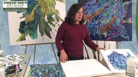 Debbie Arnold Collaging With Poured Acrylic Skins Youtube