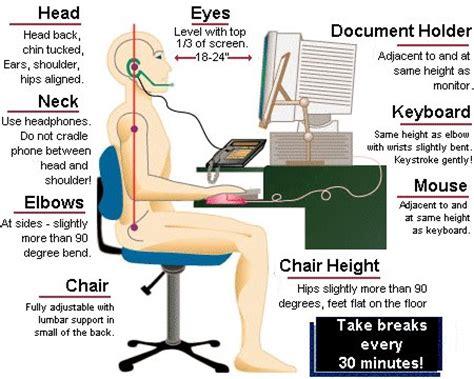ergonomic sitting at desk physio cares ergonomic computer workstation
