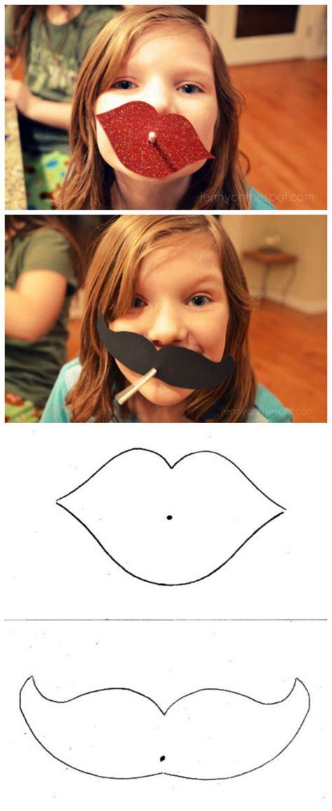 diy lip  mustache lollipop valentines kids valentine