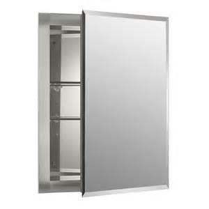 kohler k cb clr1620fs single door 16 w aluminum cabinet with square mirrored door