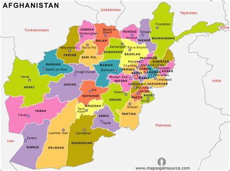 afghanistan map map  afghanistan  map