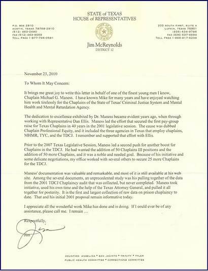Texas Parole Letter Letters Support Sample Prison