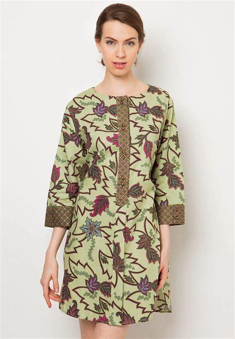 model baju batik kantor danar hadi pakaian wanita
