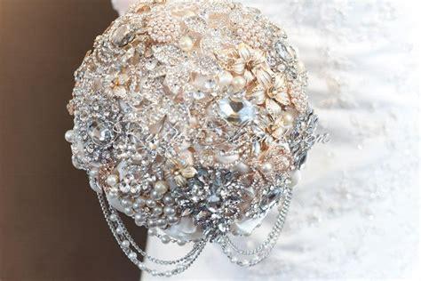 Great Gatsby Wedding Brooch Bouquet Deposit Glamour