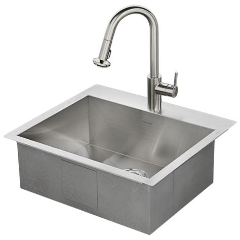 Memphis 25x22 Kitchen Sink Kit  American Standard