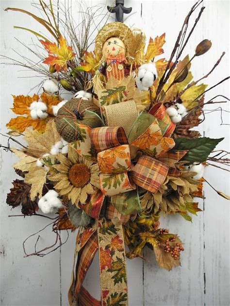 fall scarecrow door swag home decor wreaths garland