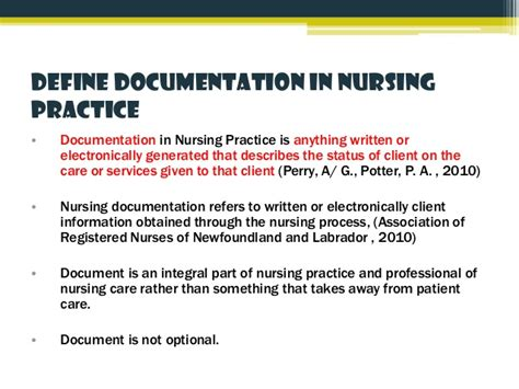 documentation  nursing practice