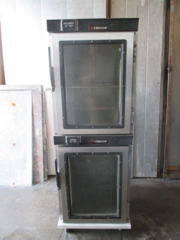 crescor double stack proofer hot box holding warming cabinet