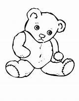Teddy Bear Coloring Printable Bears Drawing sketch template
