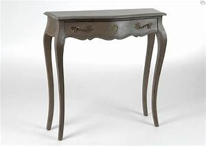 console bois lin beige ou taupe meubles et decoration With meuble style campagne chic 9 grande console bois ceruse taupe grise grand siacle