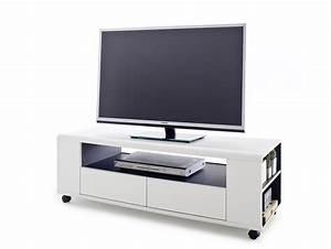 Tv Lowboard Rollen : calvi tv lowboard wei anthrazit ~ Lateststills.com Haus und Dekorationen