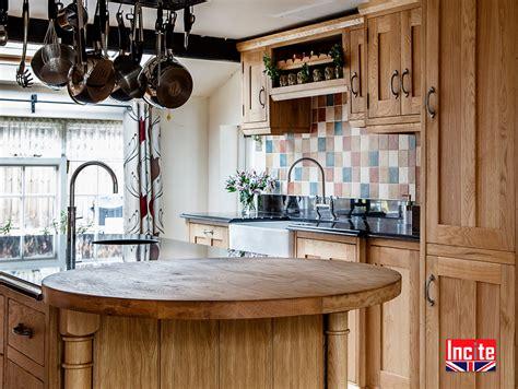 oak kitchen island custom handmade  incite  derbyshire