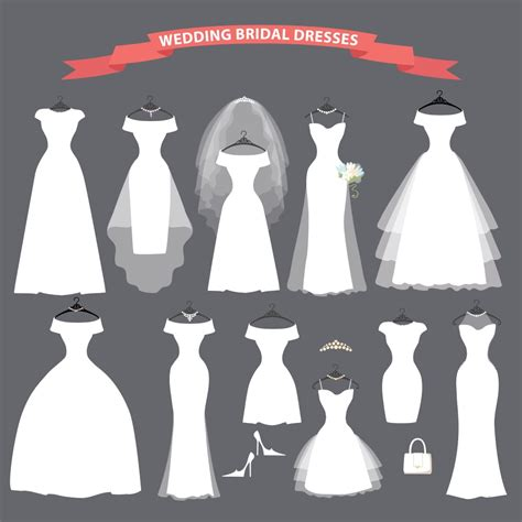 types  wedding dresses