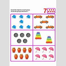 Count Seven  K  Kids Learning Games And Worksheets  Free Printable Activities & Online Kids