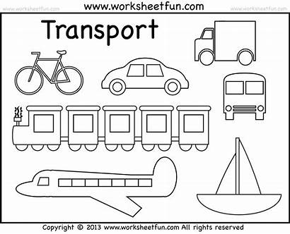 Land Coloring Pages Transportation Water Worksheet Preschool
