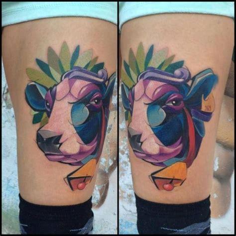 bein kuh tattoo von mefisto tattoo studio