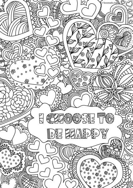 inspirational coloring pages for adults inspirational messages i choose to be happy printable
