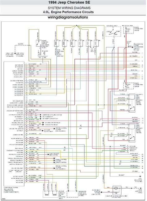 1995 Jeep Wiring Diagram by 1995 Jeep Wrangler Radio Wiring Diagram Electrical