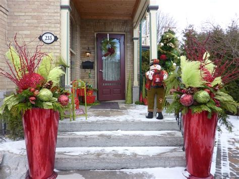 images  christmas winter pots  pinterest