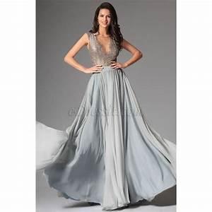 robe de soiree princesse longue gris achat vente With cdiscount robe de soirée longue