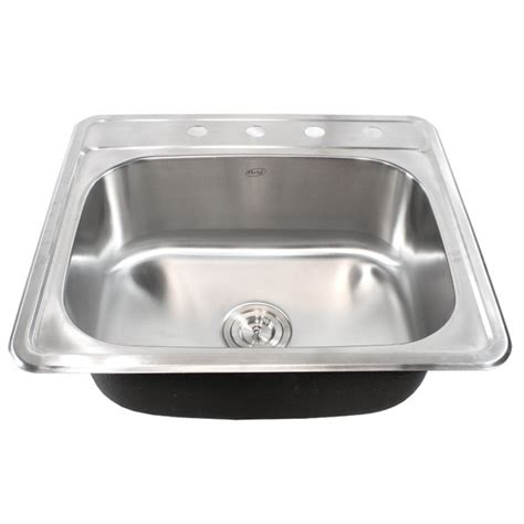 best gauge for stainless steel sink 25 inch top mount drop in stainless steel kitchen island