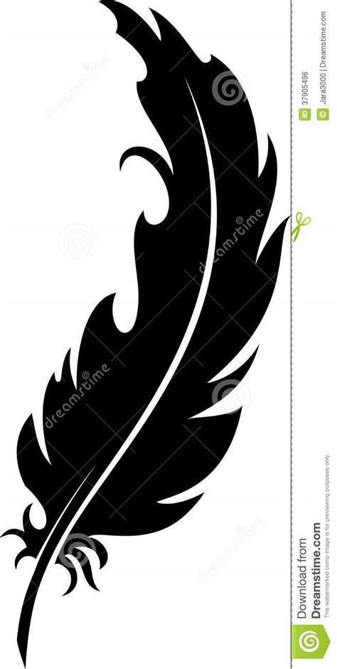 plume silhouette illustration de vecteur illustration