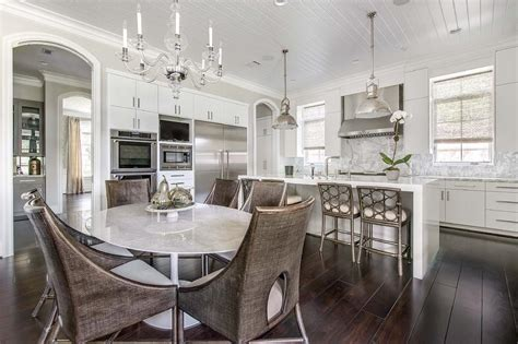 pendants lights for kitchen island kitchen with oval dining table transitional kitchen