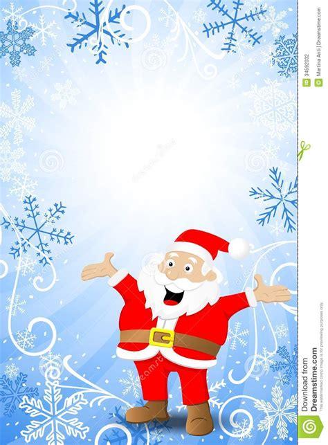 Fond bleu de Noël avec le père noël