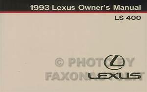 1993 Lexus Ls 400 Wiring Diagram Manual Original