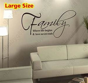 Large Family Wa... Large Vinyl Wall Quotes