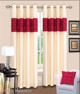 Red and cream curtains for living room decorate the for Red and cream curtains for living room