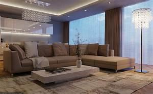 deco salon gris et taupe pour un interieur raffine ideeco With tapis design avec canapé de france