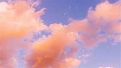 Clouds Sky Background Orange Porous Pink 1080p