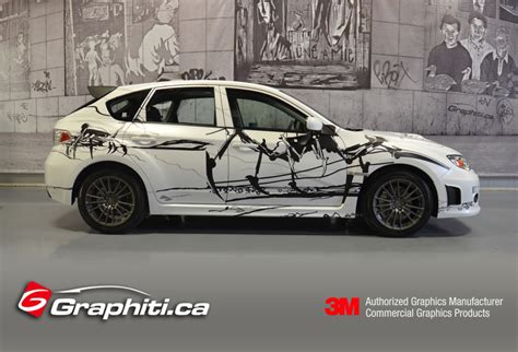 subaru custom cars subaru wrx custom car wrap graphiti